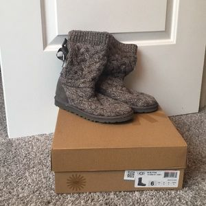 Authentic Ugg Blyth Cable Sweater Boots